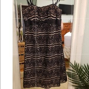 Strapless dresses black and nude